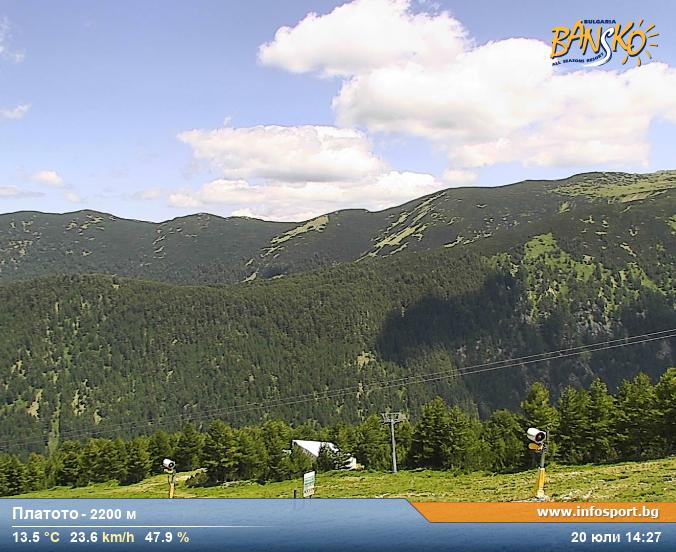 Pirin Mountains - Webcam Platoto - 2200 m